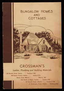 Bungalow homes and cottages, National Plan Service, Inc., Chicago, Illinois