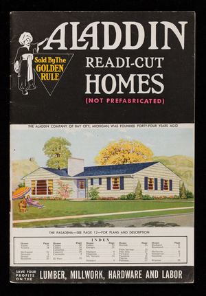 Aladdin Readi-Cut Homes, not prefabricated, catalog no. 55, The Aladdin Company, Bay City, Michigan