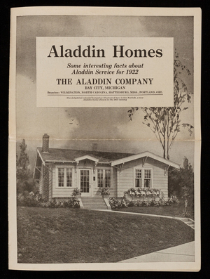 Aladdin Homes, some interesting facts about Aladdin Service for 1922, The Aladdin Co., Bay City, Michigan