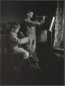 John Adams Patterson and Henry W. Patterson, III playing instruments