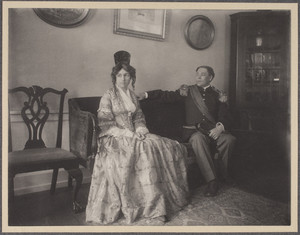 Costumed portrait of Jane Adams Patterson and Henry W. Patterson, II