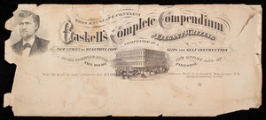 Gaskell's complete compendium of elegant writing, comprised in a new series of beautiful copy slips for self-instruction in the counting room, the office and at the home fireside, Prof. G.A. Gaskell, Manchester, New Hampshire
