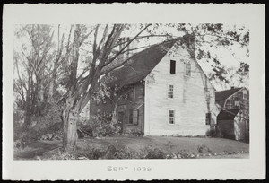 Exterior view of Arnold House after the hurricane of 1938