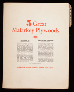 5 great Malarkey Plywoods, M and M Wood Working Company, Portland, Oregon