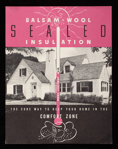 Balsam-Wool sealed insulation, the sure way to keep your home in the comfort zone, Wood Conversion Company, First National Bank Building, St. Paul, Minnesota