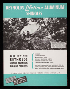 Reynolds Lifetime Aluminum Shingles, Reynolds Metal Co., Inc., Louisville, Kentucky