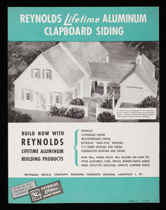 Reynolds Lifetime Aluminum Clapboard Siding, Reynolds Metal Co., Inc., Louisville, Kentucky