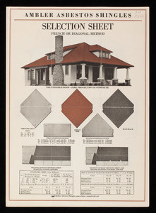 Ambler Asbestos Shingles selection sheet, Asbestos Shingle, Slate & Sheathing Company, Ambler, Pennsylvania