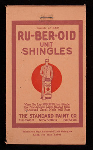 Ru-Ber-Oid Unit Shingles, The Standard Paint Co., Chicago, New York, Boston