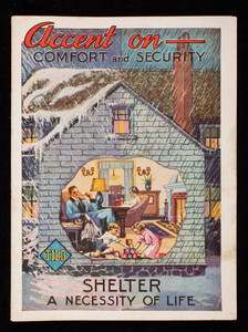 Accent on comfort and security, shelter a necessity of life, The Tilo Roofing Company, Inc., Stratford, Connecticut