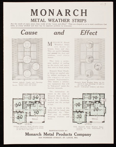 Monarch Metal Weather Strips, manufactured by Monarch Metal Products Company, 5020 Penrose Street, St. Louis, Missouri