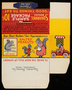 Squirrel sample package 10 cents, Squirrel Brand Co., 10-12 Boardman Street, Cambridge, Mass., undated