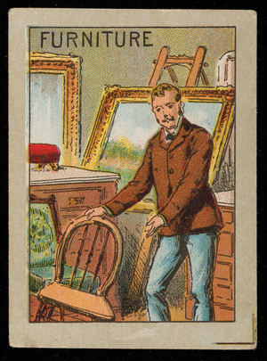 Furniture picture card, location unknown, undated