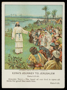 Ezra's journey to Jerusalem, Little Pilgrim lesson pictures, November 19, vol. 23, 4th quarter, 1911, no. 4, part 8, Pilgrim Press, Boston; New York; Chicago, 1911