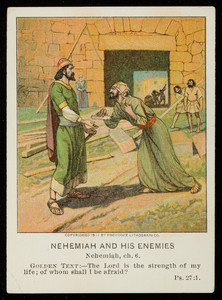 Nehemiah and his enemies, December 10, vol. 23, 4th quarter, 1911, no. 4, part 11, Pilgrim Press, Boston; New York; Chicago, 1911