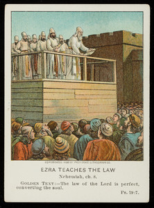Ezra teaches the law, December 17, vol. 23, 4th quarter, 1911, no. 4, part 12, Pilgrim Press, Boston; New York; Chicago, 1911