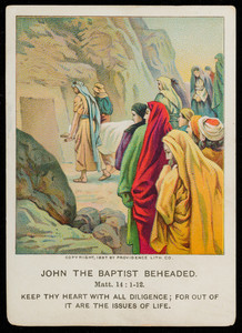 John the Baptist beheaded, vol. 18, no. 1, part 12, March 20, 1898, American Baptist Publication Society, Philadelphia, Pennsylvania, 1898