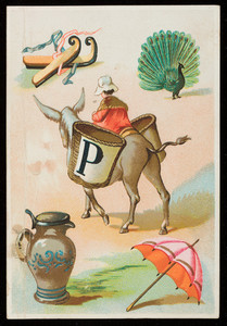 French alphabet card, letter P, location unknown, undated