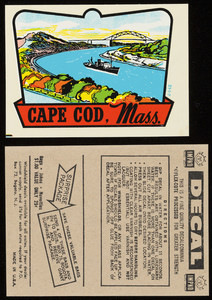 Cape Cod, Mass. decal