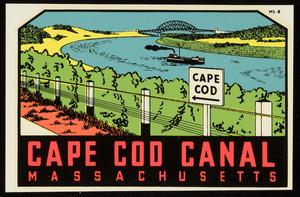Cape Cod Canal decal (4 copies)