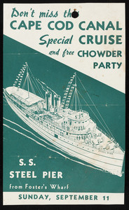 Special Cruise and Chowder Party flyer