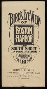Bird's Eye View of Boston Harbor and South Shore to Provincetown