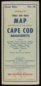 Street and road map of Cape Cod