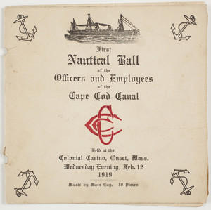First Nautical Ball of the Officers and Employees of the Cape Cod Canal invitation