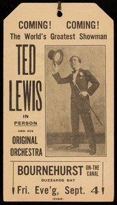 Ted Lewis advertisement