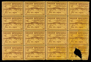 Grand Opening of Bridges at Bourne, Mass. stamps