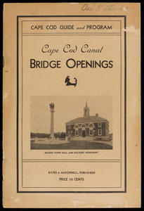Cape Cod Guide and Program, Cape Cod Canal Bridge Openings (2 copies)