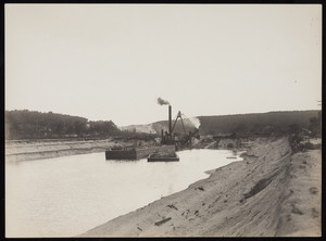 The Governor Herrick dredging during construction of the Cape Cod Canal