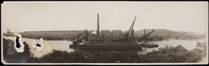 The Governor Herrick filling a barge on the Cape Cod Canal