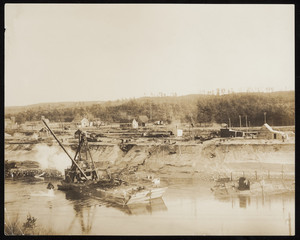 A dredge worlking on the construction of the Cape Cod Canal