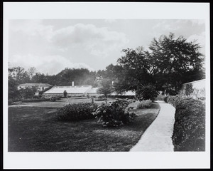 Exterior view of the Lyman Estate greenhouses