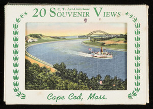 Folder of 20 Souvenir Art-Colortone Views of Cape Cod, Mass.