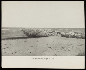 A view of the breakwater from the shore