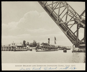 Belmont inspects the Cape Cod Canal before Opening Day