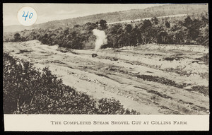 The completed steam shovel cut at Collins Farm