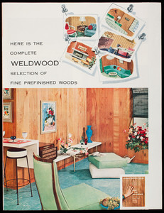 Here is the complete Weldwood selection of fine prefinished woods, United States Plywood Corporation, 55 West 44th Street, New York 36, New York