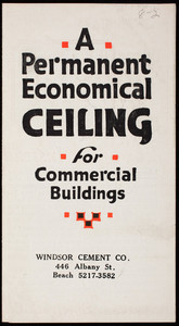 Permanent economical ceiling for commercial buildings, United States Gypsum Company, 205 West Monroe Street, Chicago, Illinois