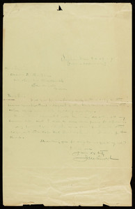 Letter to Charles M. Thompson from James M. Lincoln
