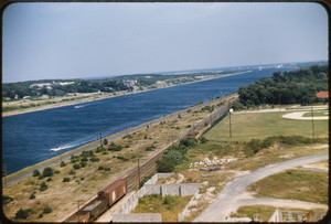 Aerial view of Cape Cod Canal