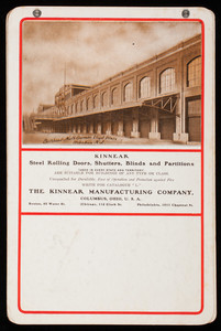 Kinnear steel rolling doors, shutters and partitions, The Kinnear Manufacturing Company, Columbus, Ohio
