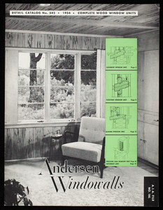 Andersen Windowalls, detail catalog no. 542, Andersen Corporation, Bayport, Minnesota