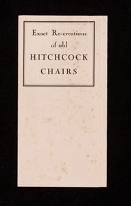 Exact re-creations of old Hitchcock Chairs, Paine Furniture Company, 81 Arlington Street, Boston, Mass.