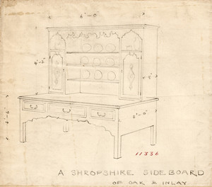 """A Shropshire Sideboard of Oak and Inlay"""