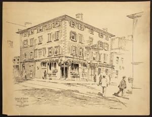 "Corner of Leverett and Green Streets, ""Johnnie Kelliher's Corner,"" Boston, Mass., September 14, 1905"