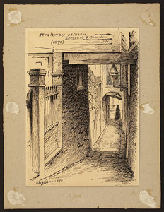 Archway between Leverett and Chambers Sts., 1890