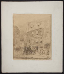 Atwood's Oyster House, Marshall St., Boston, 1890